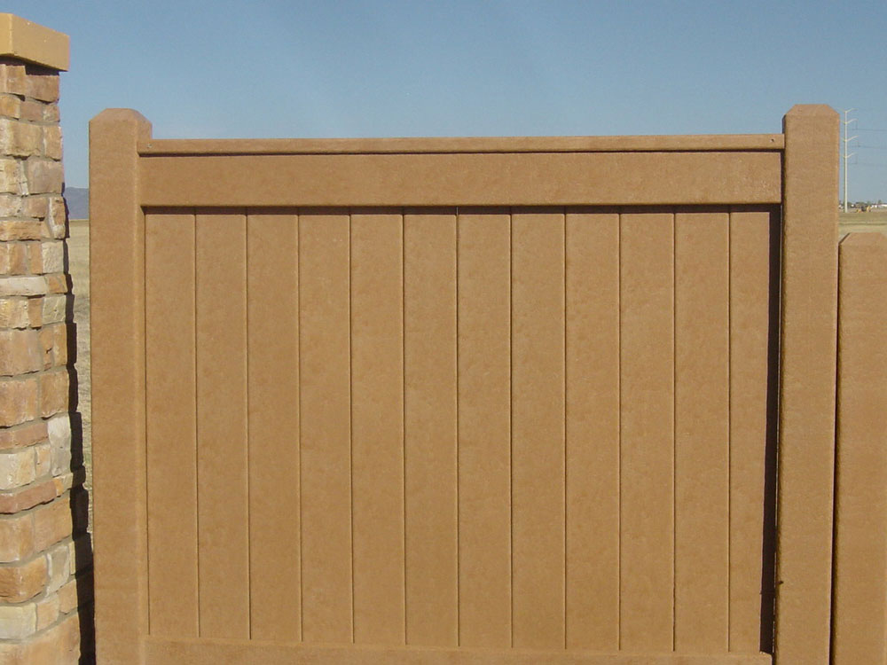 Plastic lumber fence build fence plastic lumber long for Recycled decking boards