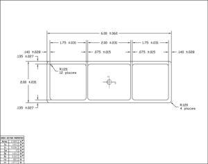 "Ameriboard-FG 2x6 Rail w/Calks 1'-0"" = 1'-0"""