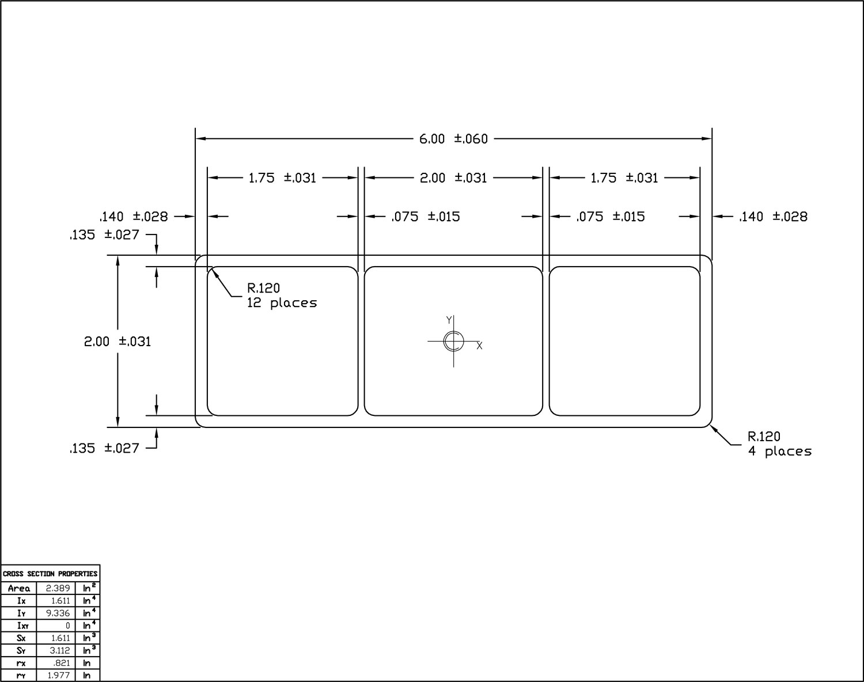 Ameriboard-FG 2x6 Rail w/Calks;